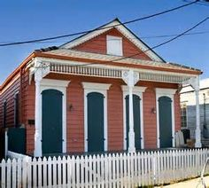 210 gentilly road is a classic new orleans shot gun for Modular shotgun house