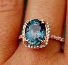 green blue sapphire engagement rings