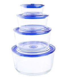 Look what I found on #zulily! Round Glasslock Premier Container Set #zulilyfinds