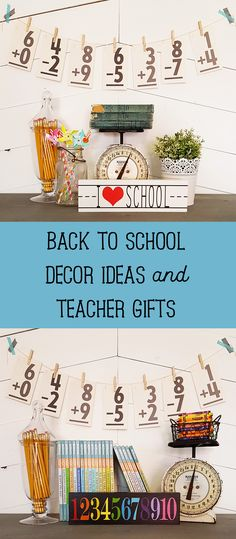 Painted wood signs are the perfect addition to both your back to school decor or to give to your child's #teachers. #backtoschool #decor