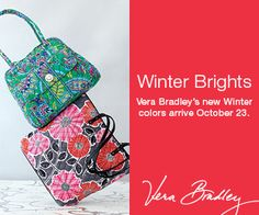 Our Vera Bradley Winter 2014 Launch is October 23rd - save the date! #verabradley
