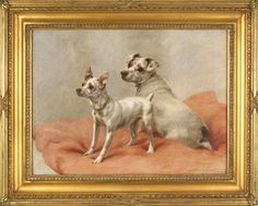 White Terriers by Maude Earl (1864-1943)