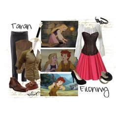 Taran & Eilonwy Inspired Outfits by rubytyra on Polyvore