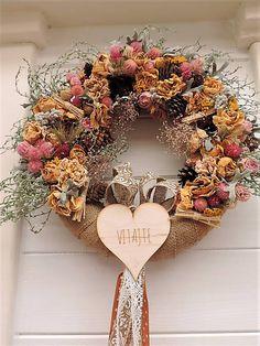 Clarah / Prírodný veniec Vence, Burlap Wreath, Wreaths, Fall, Home Decor, Autumn, Decoration Home, Door Wreaths, Fall Season