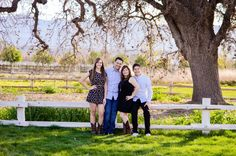 Top 5 places I love to photograph in the Bay Area and Silicon Valley.  This family of four loved photographing at Martial Cottle Park, San Jose, California | Jen Vazquez Photography http://jenvazquez.com