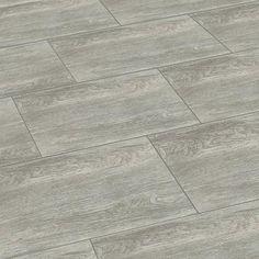 Vloertegels 'Saloon' silver hout effect 30 x 60 cm