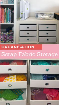 Clever scrap fabric storage using Ikea products to organise scrap fabrics - Blossom Heart Quilts Strip Quilts, Scrappy Quilts, Quilt Blocks, Scrap Fabric, Fabric Scraps, Monochromatic Quilt, Heart Quilts, Ikea Products, Scrap Busters