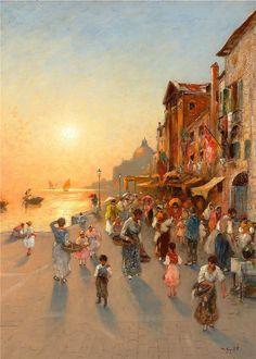 https://flic.kr/p/ckEerJ | Vilhelm von Gegerfelt von Gegerfelt - Evening view of Venice
