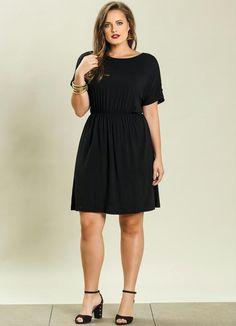 0387171e3a4 Vestido Detalhe Vazado Plus Size Preto - Quintess. Plus Size DressesVestidos  ...