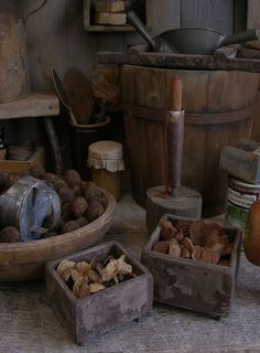 Primitive pantry boxes