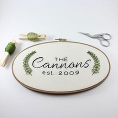 ▲ Custom Last Name Hoop Art ▲ Personalized art is the perfect way to bring in a unique element and style to any space. Whether you are needing a gift for the new bride and groom, redecorating your hom