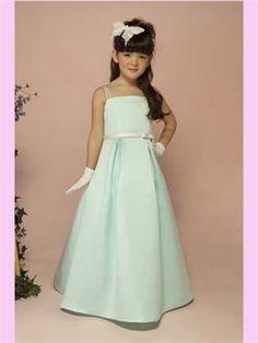 Sash Satin Flower Girl Dress