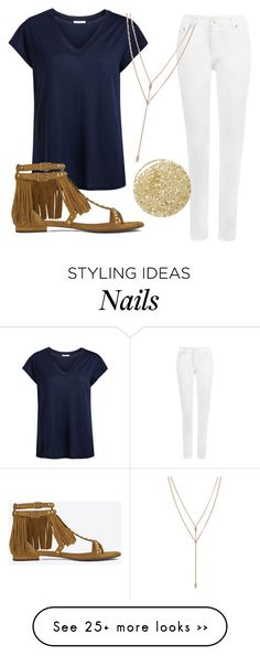 """""""Untitled #1517"""" by moria801 on Polyvore featuring мода, Pieces, WearAll, Yves Saint Laurent, Vince Camuto и Lancôme"""