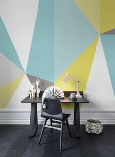Hey, look at this wallpaper from Rebel Walls, Big Diamond, summer! #rebelwalls #wallpaper #wallmurals