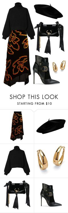 """Boots+Skirt"" by watasiwass ❤ liked on Polyvore featuring Peter Pilotto, Diesel, Palm Beach Jewelry, Attico and Balmain"