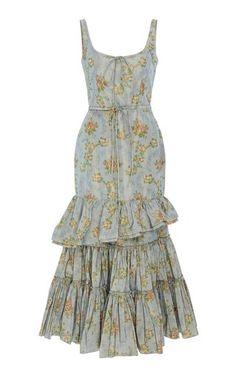 Ruffle Midi Dress by Brock Collection Resort 2019