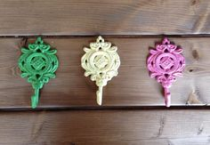 Shabby Chic Wrought Iron Hook / Decor / by pinkydoodledesigns, $11.50