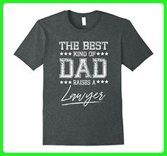 Mens The Best Dad Raises a Lawyer Birthday Gifts Fathers Day Gift Large Dark Heather - Holiday and seasonal shirts (*Amazon Partner-Link)