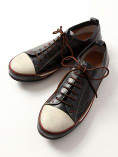 Low cut leather sneaker / alfredoBANNISTER アルフレッド・バニスター,レザーローカットスニーカー shopstyle.co.jp