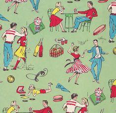 Vintage Gift Wrap Teen Theme by hmdavid, via Flickr