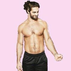 Seth's hair in a bun <3