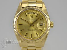 Vintage ROLEX Oyster Perpetual DayDate 1803 YellowGold