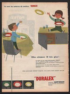 PUBLICITÉ DE PRESSE -  VAISSELLE DURALEX - 1957