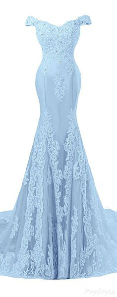 Sunvary Off Shoulder Formal Lace Evening Gown,Mermaid Prom Dress