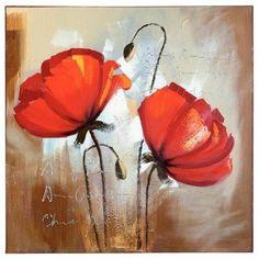 Acrylic Flowers, Abstract Flowers, Watercolor Poppies, Watercolor Paintings, Beginner Painting, Diy Painting, Flower Canvas, Flower Art, Acrylic Canvas