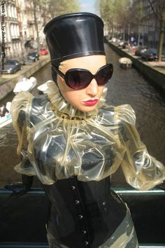 marilyn yussuf latex dress up in Amsterdam