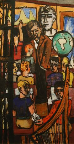 Max Beckmann, Beginning - MMA, NY  Right panel of the triptychs