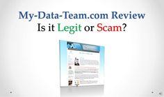 my-datateamcom-review-legit-or-scam by Sandeep Iyengar via Slideshare