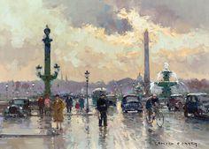Place de la Concorde by Edouard Cortes