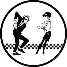 Ska man & Beat girl vinyl car sticker decal (Large) - 2 two tone rude boy mod Beat Girl, Record Label Logo, Fever Ray, Ska Music, Mighty Mighty, Turn Blue, Blue Train, Rude Boy, Tatoo