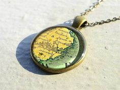 Handmade Stockholm map necklace is best birthday gift - M5102CP