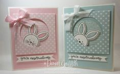 osterverpackung stampin up | Pink Pirouette and Soft Sky Easter cards Friends & Flowers stamp set ...