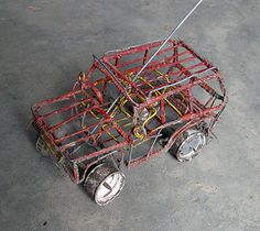 Toy made out of wire Little Footprints, Welding Art Projects, Push Toys, Homemade Toys, Car Makes, Wire Art, Making Out, South Africa, Rube Goldberg