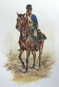 Served part of the war as Washington's mounted Lifeguards.