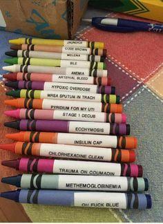 Renamed crayons #NurseHumor