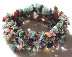 Fancy Jasper Chip Cuff Bracelet.   , $7.00 (http://lifeisagiftshop.com/natural-gemstone-chip-cuff-bracelet/)