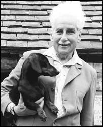 E.B. White  The Dachshund's affectionate He wants to wed with you: Lie down to sleep, And he's in bed with you. Sit in a chair, He's there. Depart, You break his heart.