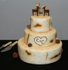Rustic wedding cake | Kathy's Kakes | Bride Meets Wedding | Iowa, Illinois, Wisconsin | #weddingdessert #cake #rusticwedding