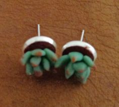 joyería mexicana miniatura plantas de arcilla de por ModaXiPi