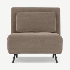 Bessie Single Sofa Bed, Luna Grey Weave | MADE.com Bed Mattress, Sofa Bed, Single Couch, Sofa Cama Individual, Sofa Sale, Minimalist Bedroom, Bed Storage, Green Velvet, Soft Furnishings