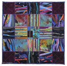 Grids & Lines — Sue Benner Small Quilts, Mini Quilts, Applique Quilt Patterns, String Quilts, Contemporary Quilts, Quilt Stitching, Map Art, Fabric Art, Quilting Designs