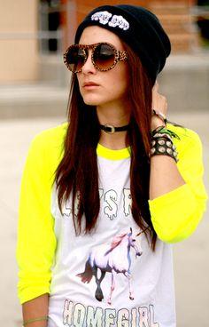 Selena, Siren of Mod reppin' our black logo beanie!  www.educateelevate.com  #educateelevate #90s #urban #fashionblogger #unicorn #beanie