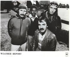 Weather Report (fom left: Joe Zawinul, Wayne Shorter, Peter Erskine (seated) and Jaco Pastorius) Weather Report Band, Jaco Pastorius, Wayne Shorter, Renaissance Music, Indian Music, Miles Davis, Jazz Band, Jazz Musicians, Music Pictures