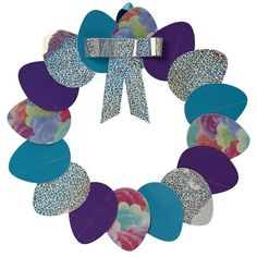 How to make a duct tape Easter egg wreath that will make your decorations shine. http://duckbrand.com/craft-decor/activities/easter-egg-wreath?utm_campaign=dt-crafts&utm_medium=social&utm_source=pinterest.com&utm_content=duct-tape-crafts-spring
