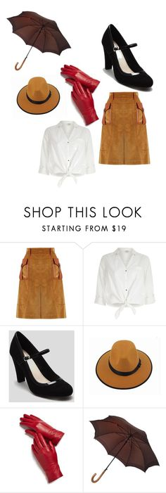 """""""Singing in the rain"""" by carolinecook-1 ❤ liked on Polyvore featuring Prada, River Island, Magda Butrym and Louis Vuitton"""