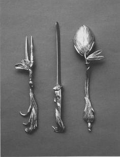 bronze ginko leafed bench by claude Lalanne Art Nouveau, Art Deco, Silver Spoons, Silver Cutlery, Flatware Set, Kitchen Art, Makers Mark, Interior Design Living Room, Metal Art